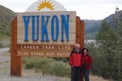 2010 - En la entrada del Yukon