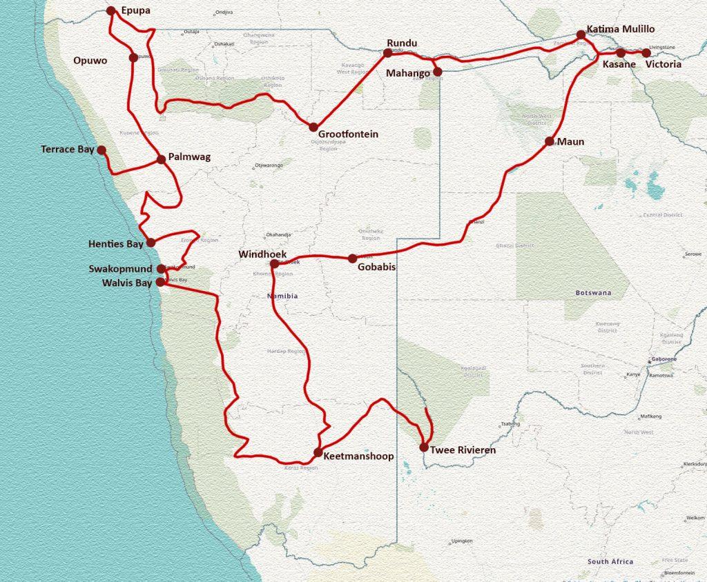 Ruta Namibia y Botswana 2018
